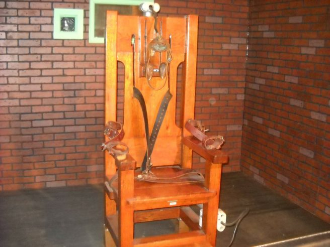 An electric chair.