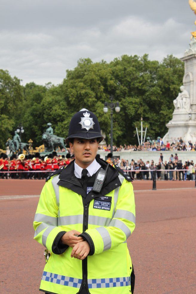 An officer on duty.