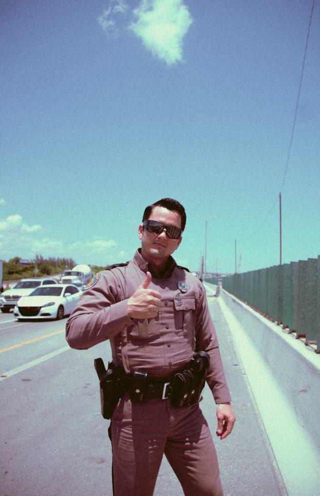 A friendly cop.
