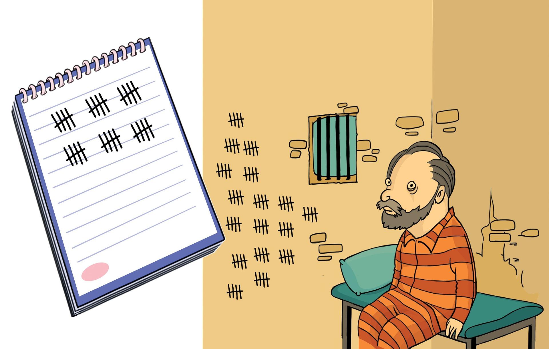 A man in prison.